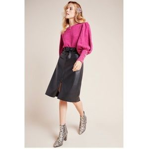 Bailey/44 Marceline Faux Leather A-Line Midi Skirt